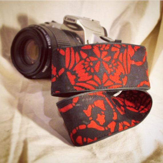 Vegan Camera Strap-Celtic Red-LIMITED Pattern