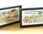 Vintage Framed Street Scene Prints • MCM Paris Street Scene Art Prints