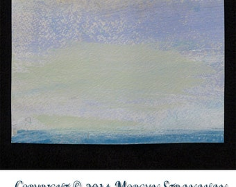 Original Mixed Media Waterscape, #75 of 101 Lake Series 2013