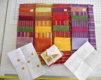 Stripe It Your Way kit Santa Fe Stripes Echo Cotton Lame homespun fabric 8pcs 2y