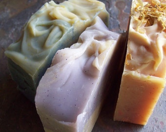 Pick 3 Soaps - Home and Living, Bath and Beauty, Organic Soaps