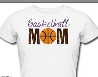 Iron On ~ Basketball MOM Ball ~ Printable Digital Download for Iron on Transfer for T-Shirt, tote, fabric ~ Basketball Mom Dad, Sport