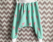 Toddler Floral Harem Pants  size 2-3 T