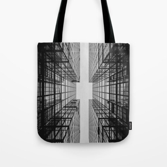 Abstract Tote Bag, Black Tote, Grey Tote, Noir Tote, Shopping Tote, Industrial, Shoulder Bag, Surf, Beach Tote, Party Tote, City Urban Tote