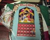 Bucilla Felt Kit Jeweled Nativity Advent Calendar 82959 Vintage Kit Complete and Ready to Stitch