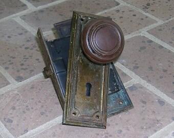 Antique Vintage Brass Door Knobs  Antique Vintage Brass Door Plates Door Lock