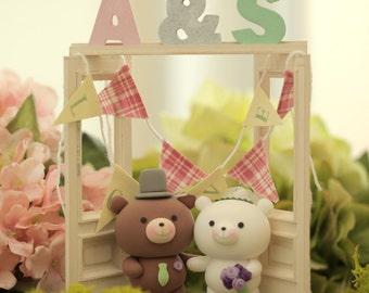 bear Wedding Cake Topper---k903