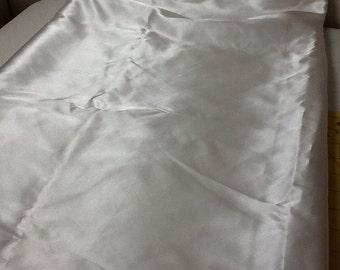 "White Satin Fabric  1 yards 60"" wide"