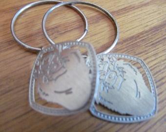 silver taz earrings