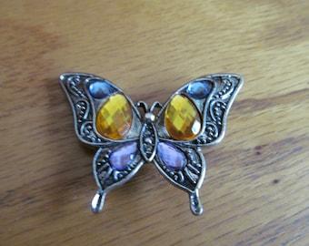pastel butterfly brooch