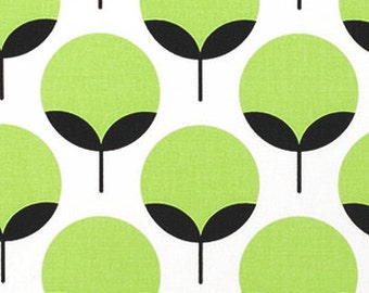 Caroline Kiwi fabric | Green White Charcoal Black fabric | Premier Prints