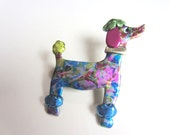 Colorful Poodle dog Pin Brooch