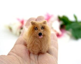 Pomeranian dog ornament, Custom dog ornament, Needle felted dog, Custom pet portrait, Dog memorial