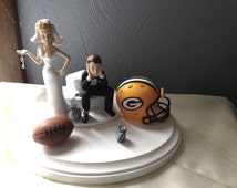 green bay wedding cake topper unique green bay toppers related items etsy 14967