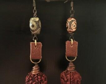 Rudraksha Bead Earrings