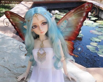 1/3 OOAK Butterfly wings for Dolls SD - Avatar - Turquoise Amber