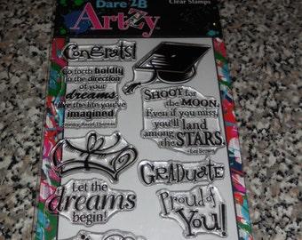 Dare 2B Artsy Clear Graduation Stamps