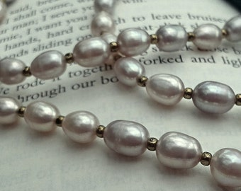 Claire's Pearl Necklace - Outlander Pearl Necklace - Diana Gabaldon Inspired - Outlander Wedding Necklace
