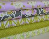 Lottie Da Collection - Fabric by Heather Bailey - Vintage Rose - Spring - Papillon - Dot in Olive