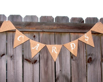 Custom Burlap Banner -  Add Your Own Message Burlap Banner