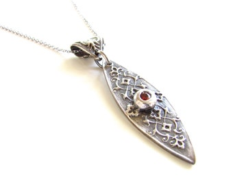 Silver Necklace - As Seen On the Vampire Diaries - You Pierced My Soul Necklace - Fine Silver Pendant - Fine Silver Necklace - Made to Order