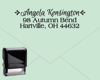 FREE US SHIPPING * Self Inking Return Address Stamp * Custom Address Rubber Stamp (E234)
