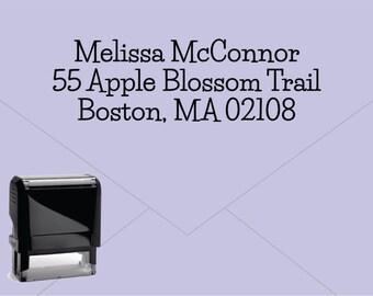 FREE US SHIPPING * Self Inking Return Address Stamp * Custom Address Rubber Stamp (E238)