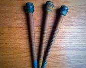 Set of 3 - Antique Yarn Spindles