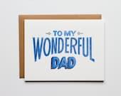 To My Wonderful DAD - Letterpress Holiday Card - CHB168