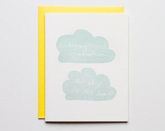 Sky is the Limit - Letterpress Graduation Card - CC146