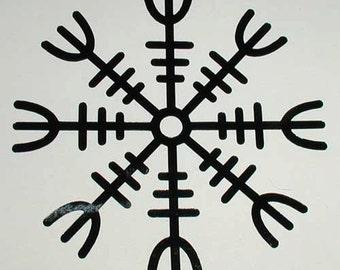 Viking HELM OF AWE rune black vinyl decal