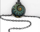 Fractal Necklace, Fractal Pendant, Fractal Bohemian Gypsy Jewelry RW505