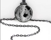 Labyrinth Necklace, Labyrinth Pendant, Labyrinth Pagan Bohemian Gypsy Wiccan Jewelry  LAB12