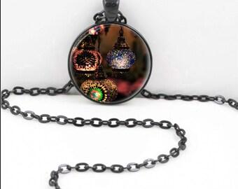 Gypsy Lanterns Necklace, Gypsy Lanterns Pendant, Gypsy Lanterns Bohemian Gypsy Jewelry RW621