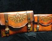 Leather Zelda Triforce tablet or iPad case