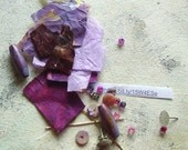 Lavender kit DIY earrings in summer colors