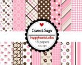 Digital Scrapbook  Cream&Sugar -INSTANT DOWNLOAD