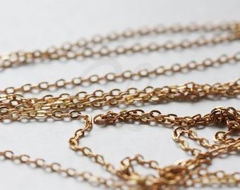 6 Feet Raw Brass Chains - Flat Oval 1.34x1mm (220SF)