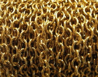 Etched 5x4mm Antique Gold Cable Chain from Nunn Design - 5 Feet