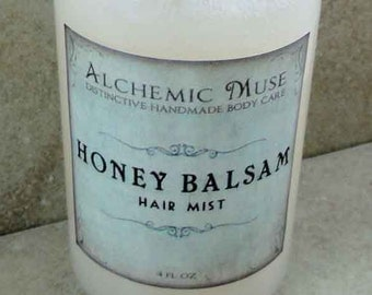 Honey Balsam - Hair Mist - Detangler & Styling Primer - Honey Citrus, Toffee, Frankincense, Myrrh