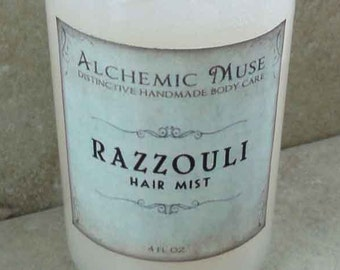 Razzouli - Hair Mist - Detangler & Styling Primer - Raspberry Puree, Ruby Red Grapefruit, Dark Patchouli