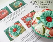 Pincushion Pattern Tutorial - PDF INSTANT DOWNLOAD - YoYo Flower Design