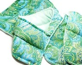 Pregnancy New Mom Survival Kit - Therapy Pack Gift Set, Gift for New Moms Maternity, mint green paisley