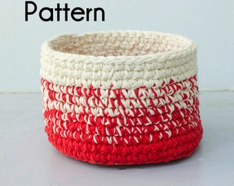 Crochet Basket Pattern, Ombre Basket Crochet Pattern PDF, Digital Download,  Home Decor Basket, Storage Basket Pattern,