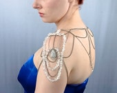 Crystal Rock Wedding Jewelry Shoulder Chain Necklace