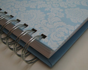 Address Guest Book/ Bridal Shower Guest Book/ Bride to Be/ Replacement Labels/ Guest Book Alternative/ Message to Bride/ Baby Blue Damask