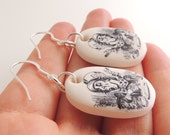 Alice in Wonderland Themed Clay Earrings - 'Mad Hatter'