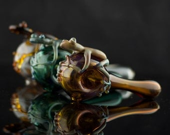 Frog Glass Spoon Pipe in Your Choice of Color
