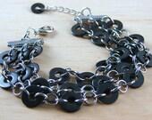 Cuff Bracelet Multi Strand Black Hardware Jewelry Industrial Eco Friendly