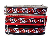 "Red Black or Silver CELTIC INFINITY KNOT 17-24"" Martingale Collar 1.5"" wide"